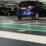 Showroom Parking Bays completed in Ecoflor car park resin systems